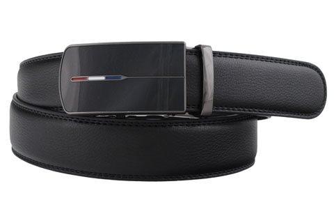 Læder bælter til mænd - 35 mm Livrem med clicksystem tre farvet