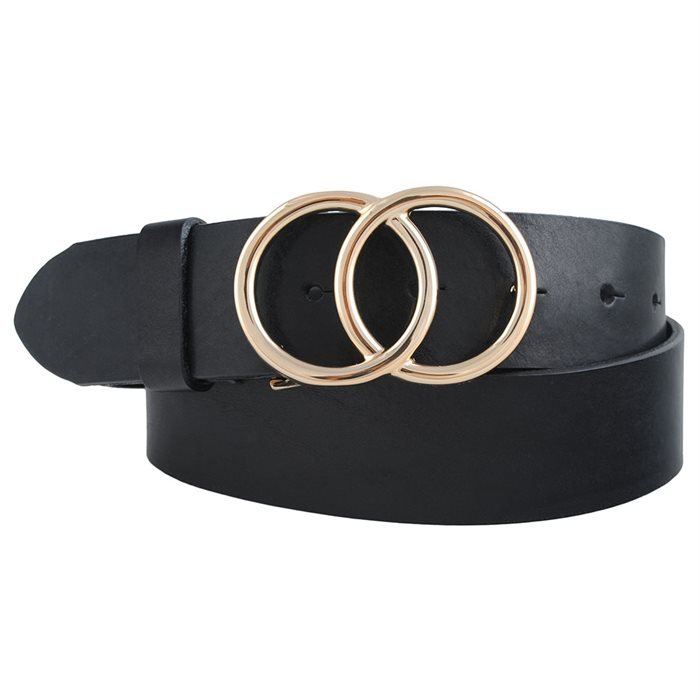 Læder Bælter til kvinder - 40 mm bælte med dobbelt guld el. Sølv spænde