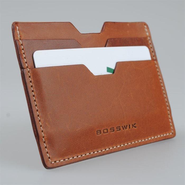 Kortholder i læder til 5 kort